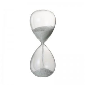 Sablier perles j-line - verre blanc large J-Line