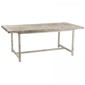 Table a manger ibiza rectangle j-line - bois blanc delave J-Line