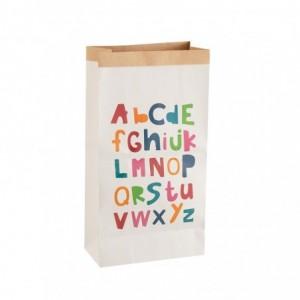 Sac alphabet papier j-line - blanc/mix medium J-Line