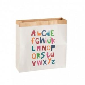 Sac alphabet papier j-line - blanc/mix large J-Line