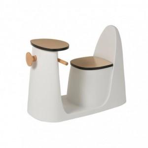 Table + chaise enfant scooter pp/bois j-line - blanc J-Line