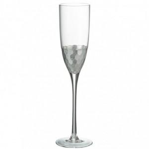 Flute a champagne j-line - transparent/argent J-Line