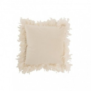 Coussin plumes polyester j-line - blanc J-Line