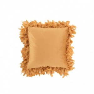 Coussin plumes polyester j-line - or/marron J-Line
