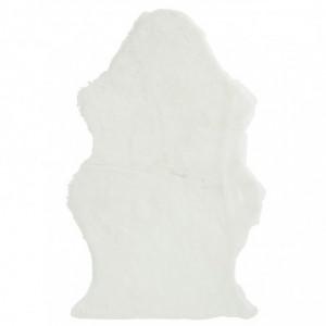 Tapis mouton fourrure artificielle j-line - blanc J-Line
