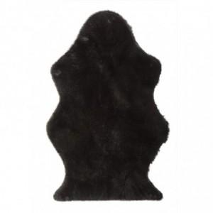 Tapis mouton fourrure artificielle j-line - noir J-Line