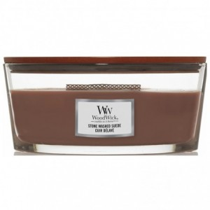 Bougie Ellipse Woodwick Yankee Candle - Cuir délavé Yankee Candle