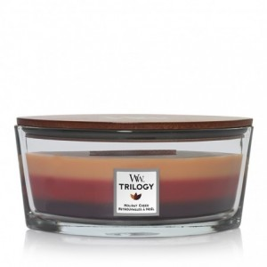 Bougie Ellipse trio Woodwick Yankee Candle - Retrouvailles à Noël Yankee Candle