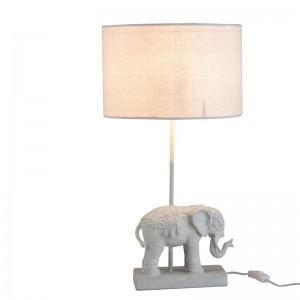 Lampe elephant j-line - resine blanc J-Line