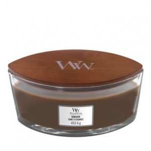 Bougie Ellipse Woodwick Yankee Candle - Cave à cigares Yankee Candle