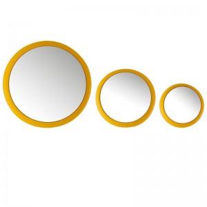 Set 3 miroirs j-line - metal mat jaune J-Line