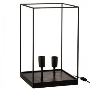 Lampe 2 ampoules rectangulaire j-line - cadre metal noir large J-Line