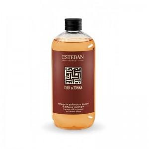 Recharge de parfum pour bouquet 500 ml Esteban - Teck et Tonka Esteban