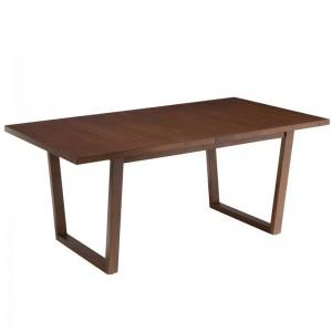 Table a rallonge ken j-line - bois hevea brun J-Line