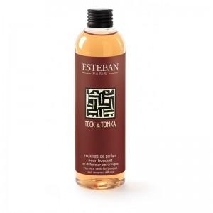 Recharge de parfum pour bouquet 250 ml Esteban - Teck et Tonka Esteban