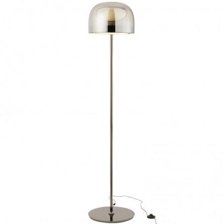 Lampe sur pied topja j-line - verre / metal argent J-Line