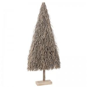 Sapin de noel plat j-line - branches bois gris large J-Line