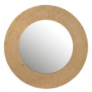Miroir effet jute aluminium j-line - or large J-Line
