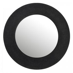 Miroir effet jute aluminium j-line - noir large J-Line