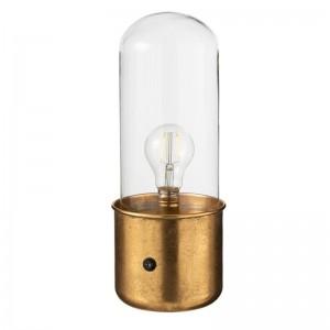 Lampe antique led j- line - verre / zinc or small J-Line