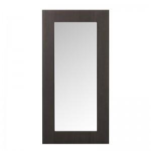 Miroir rectangulaire bois j-line - verre marron fonce J-Line