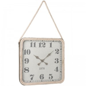 Horloge carree j-line - corde metal gris large J-Line