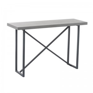 Console beton finish rectangulaire j-line - bois / metal gris J-Line