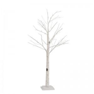 Arbre nu + leds + adaptateur imitation bouleau small j-line - blanc J-Line