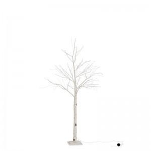 Arbre nu + leds + adaptateur imitation bouleau medium j—line - blanc J-Line