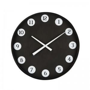 Horloge ronde numeros j-line - metal noir J-Line