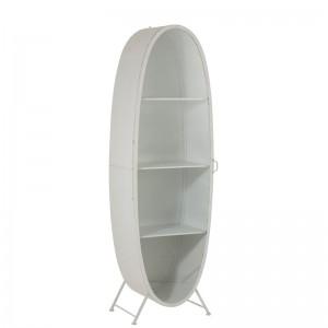 Armoire ovale j-line - metal / verre blanc J-Line