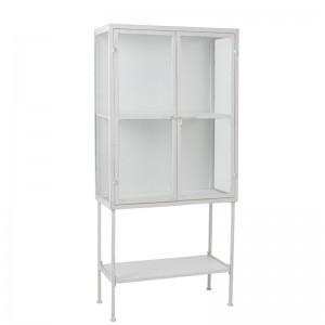 Armoire 3 planches j-line - metal / verre blanc J-Line