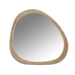 Miroir irregulier bois de manguier small j-line - marron J-Line