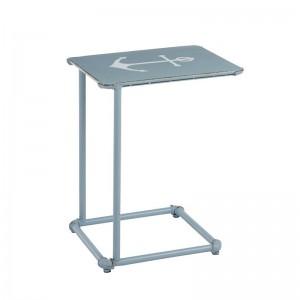 Table gigogne ancre metal j-line - jeans / blanc J-Line