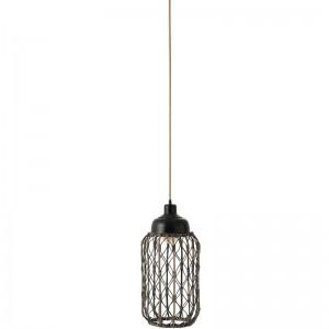 Lampe rotin j-line - gris fonce J-Line