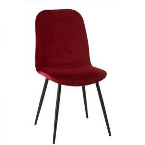 Chaise claire j-line - metal / textile bordeaux J-Line